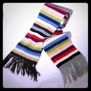 Juicy couture cashmere striped scarf